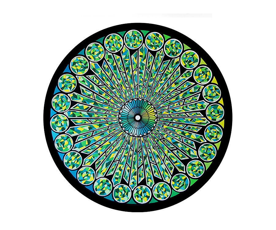 Green Rose Window - Private Collection