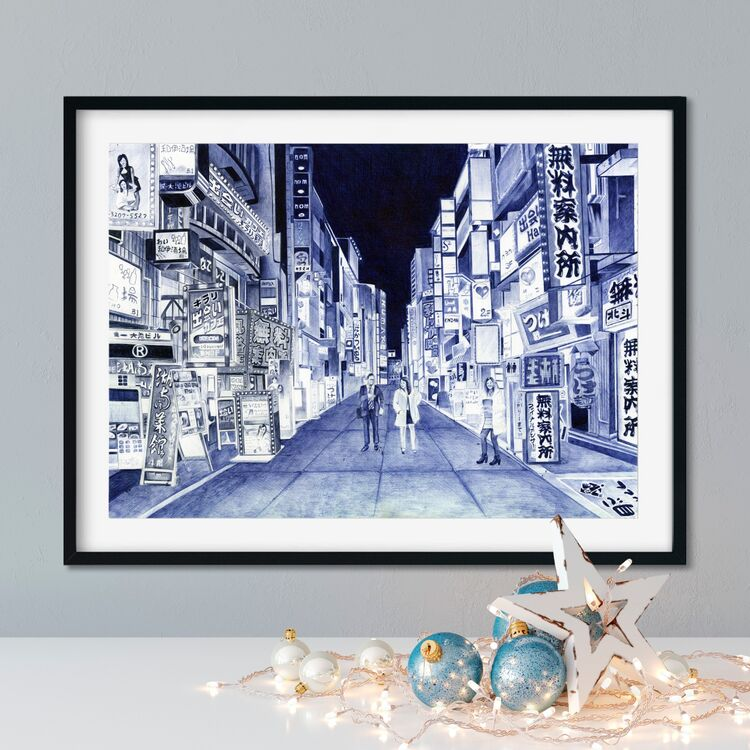 """Late Night Shopping"" Giclee Print"