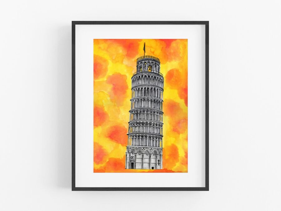 Leaning Tower of Pisa Open Edition Print