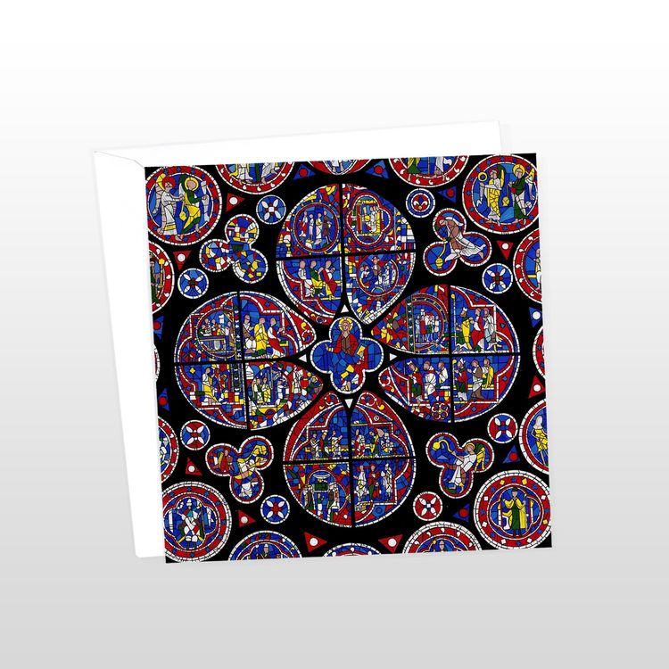 Lincoln Cathedral Rose Window Greeting Card