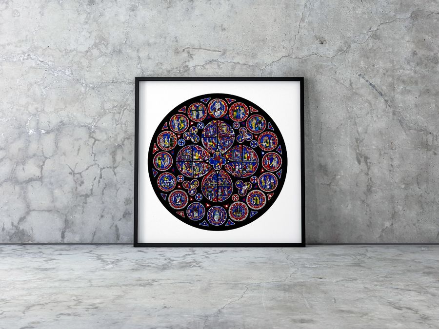 Lincoln Cathedral North Rose Window Limited Edition Print