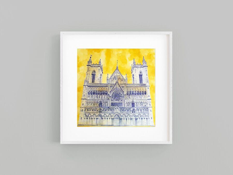 Nidaros Cathedral Framed Drawing