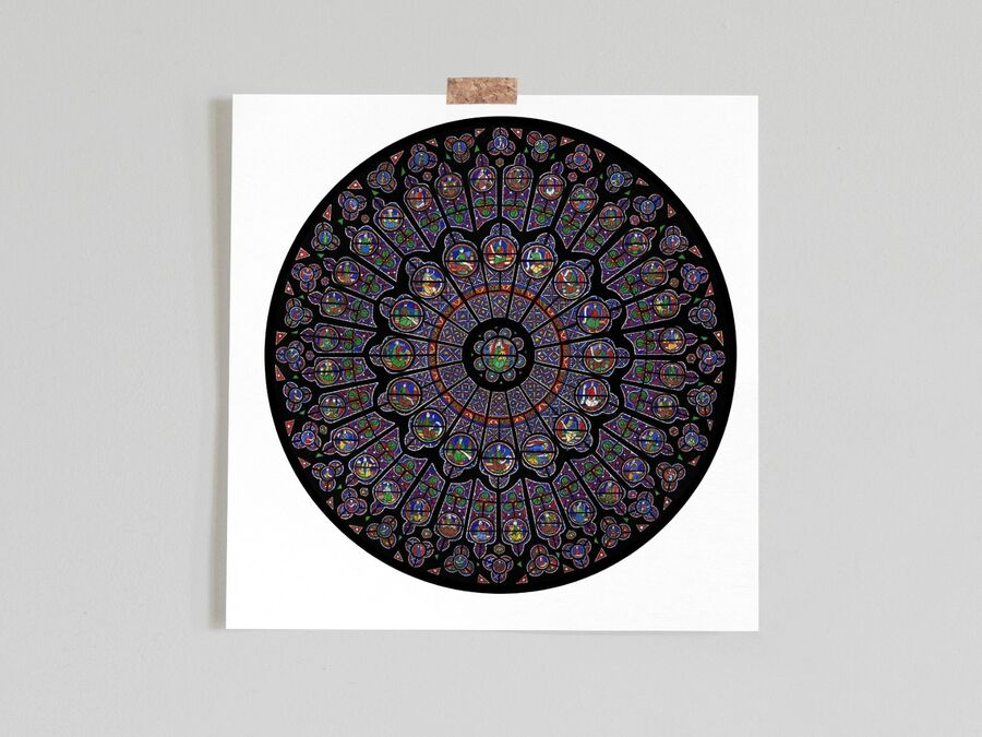 Notre Dame Cathedral Rose Window Limited Edition Print