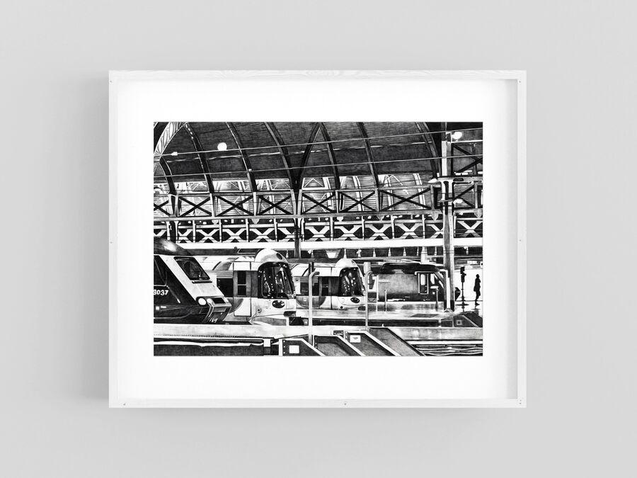 Paddington Print in White Frame
