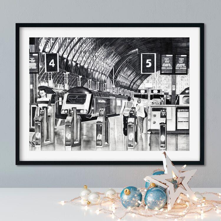 """Platform 5"" Giclee Print"