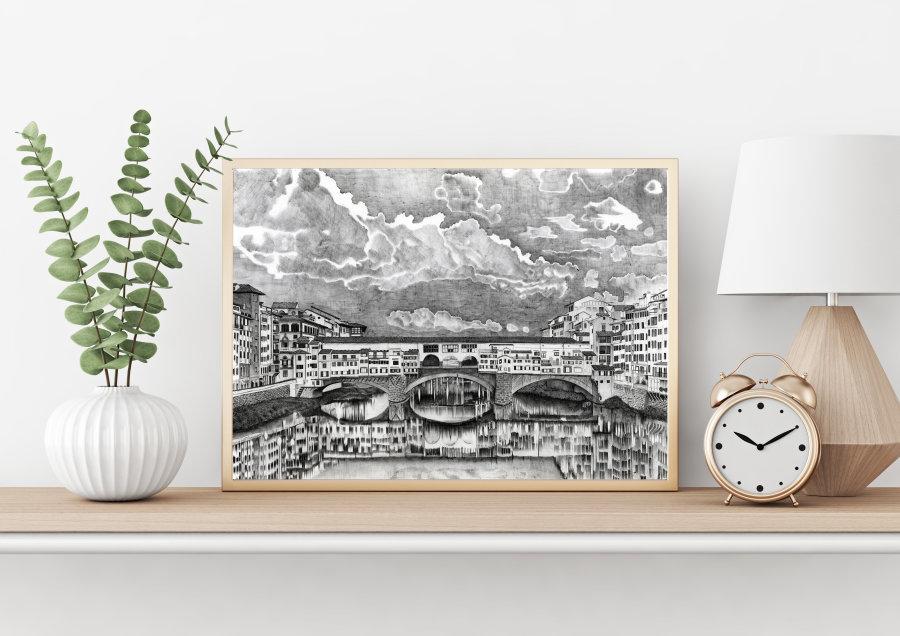 """Ponte Vecchio"" Giclee Print"
