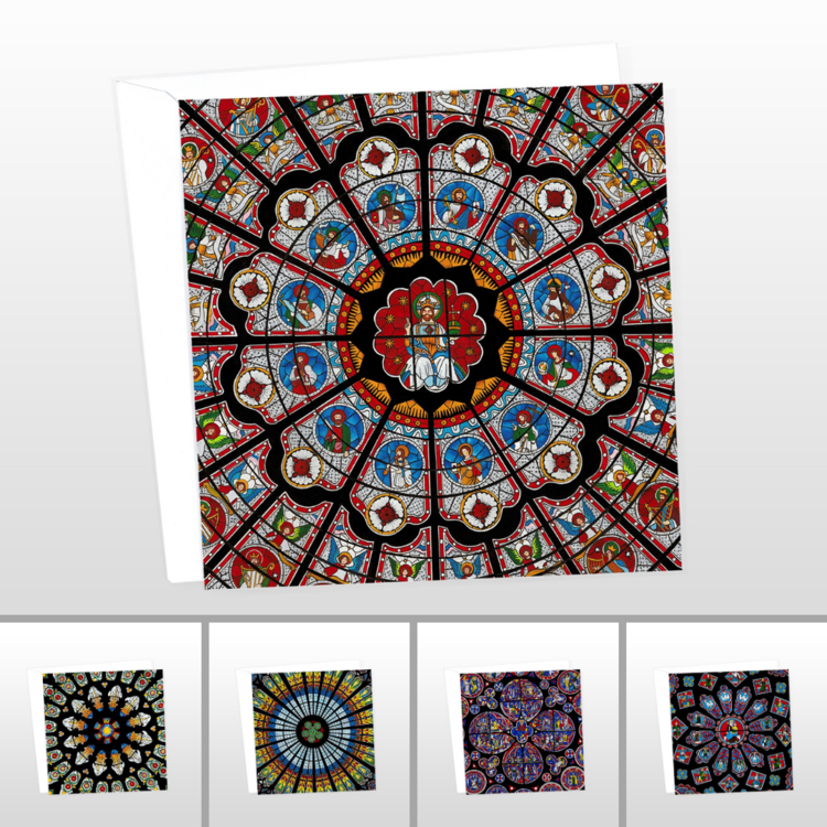 Stained Glass Window Card Pack