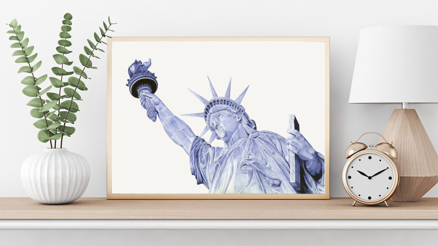 """Statue of Liberty"" Giclee Print"