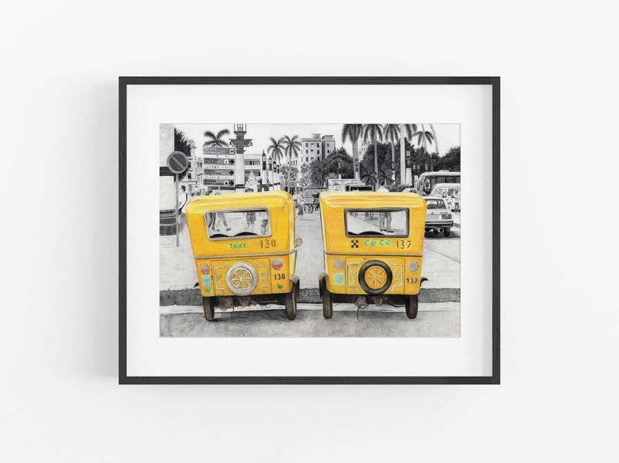 Taxi! Open Edition Print