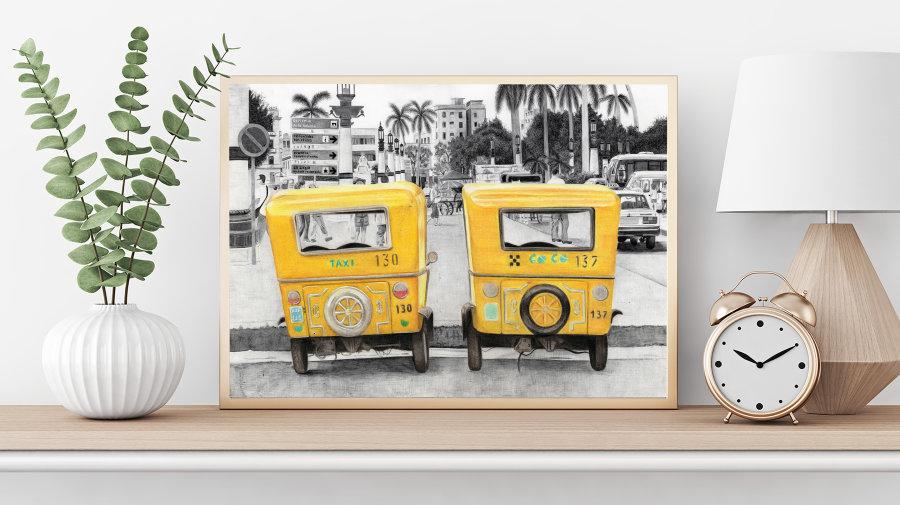 """Taxi!"" Giclee Print"