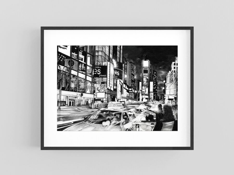 """Times Square"" Giclee Print"