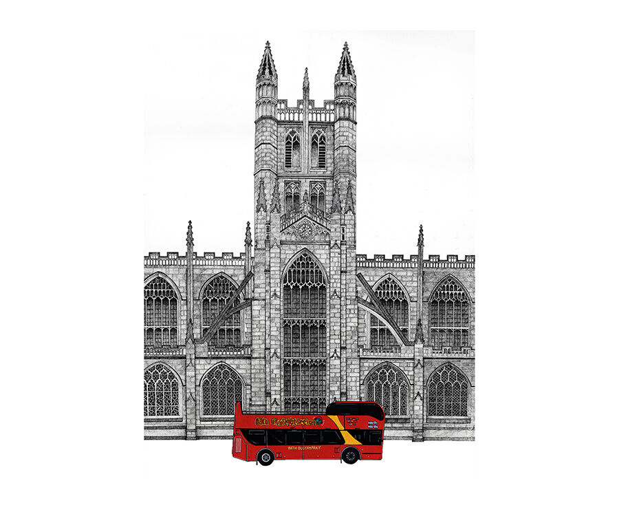 Tour Bus at Bath Abbey