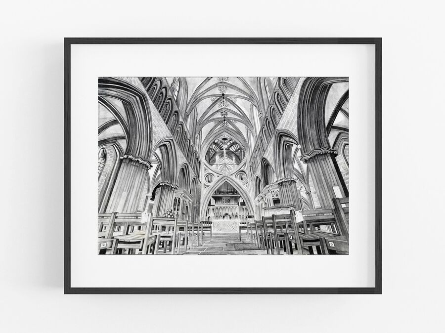 Wells Cathedral Open Edition Print