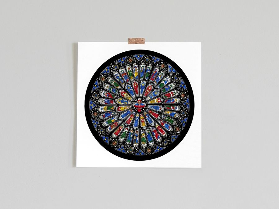 Westminster Abbey Rose Window Limited Edition Print