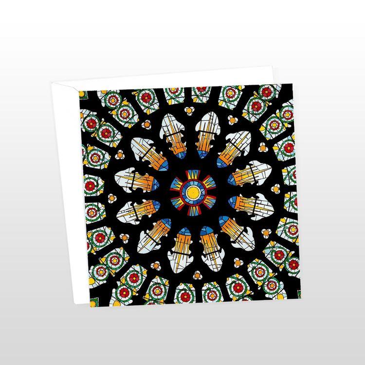 Yorkminster Rose Window Greeting Card