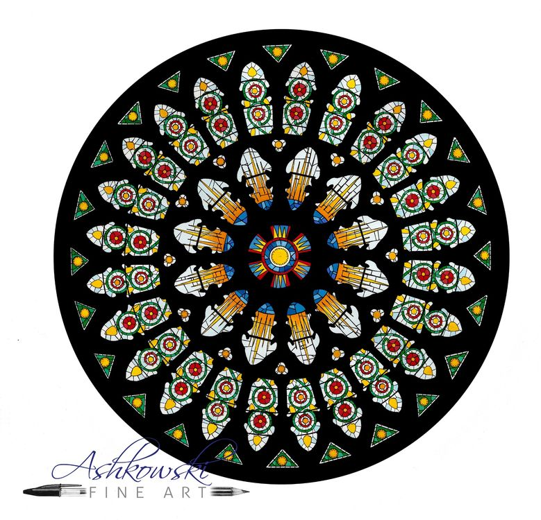 York Minster Cathedral Rose Window