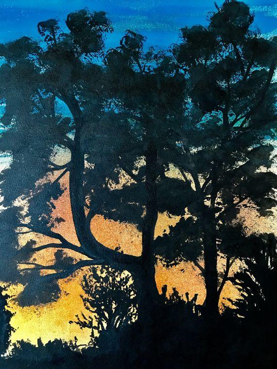 Sunset at Batsford