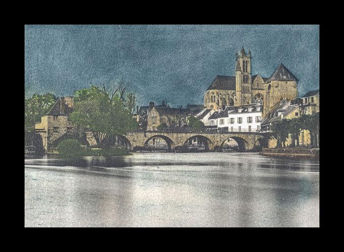 Moret sur Loing, Ilford Art 300,