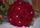 Red Rose & Diamante Bride's Handtied