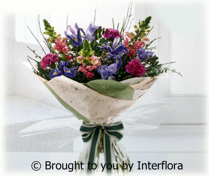 Antirrhinum & Iris Handtied: £30.00