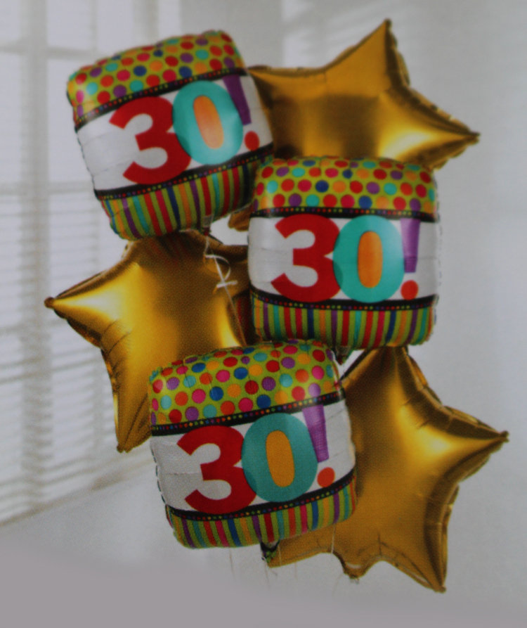 Add a 30 Birthday Balloon: £5.00