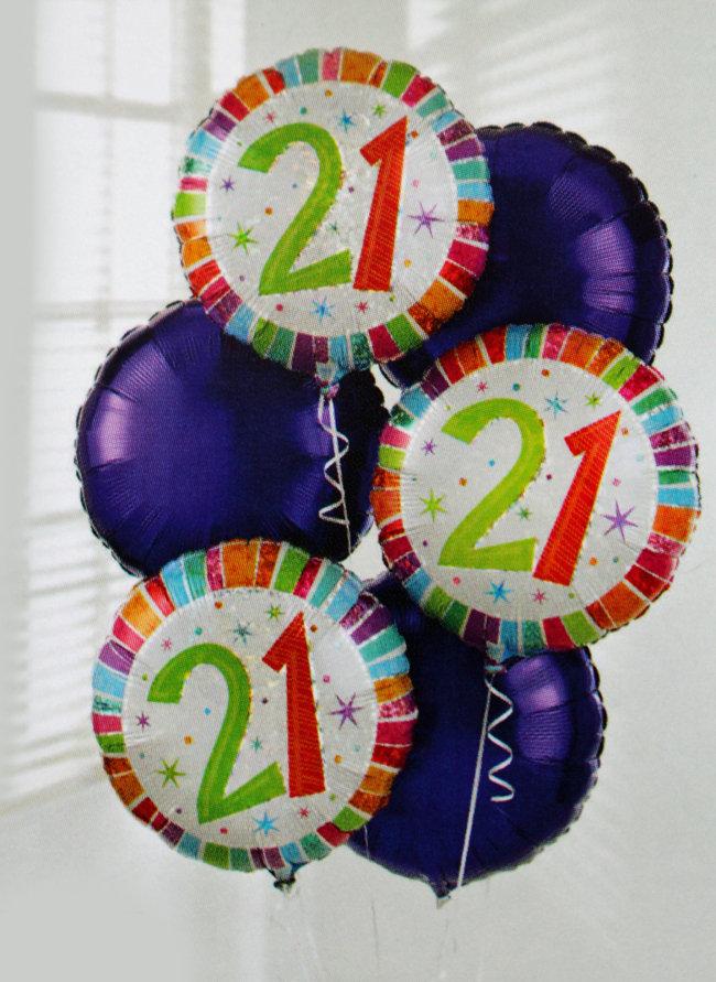 Add a 21 Birthday Balloon: £5.00