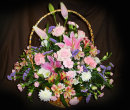 Luxury Large Basket Mixed Flowers: £60.00