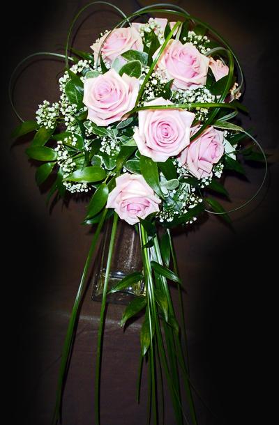 Bride's Bouquet -Pink 'Heaven' Roses