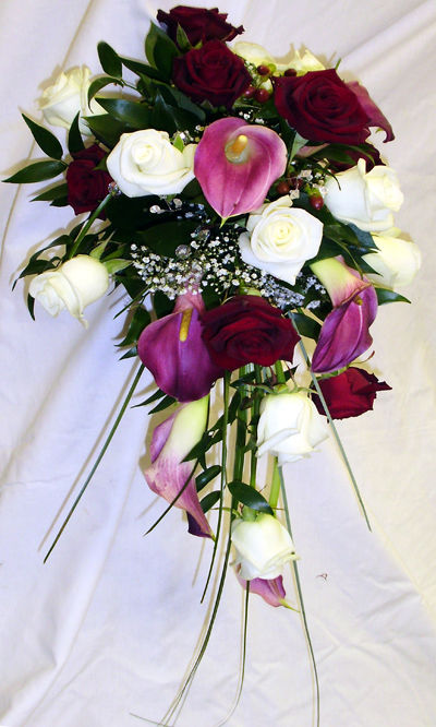 Calla Lily & Rose Shower Bouquet