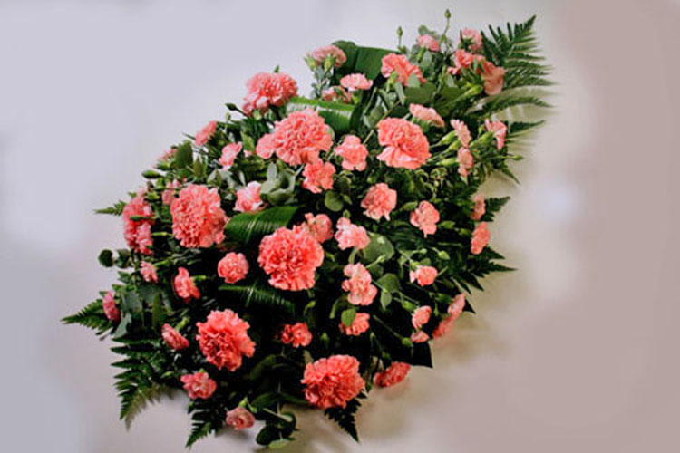 Carnation Teardrop Funeral Spray: £50.00