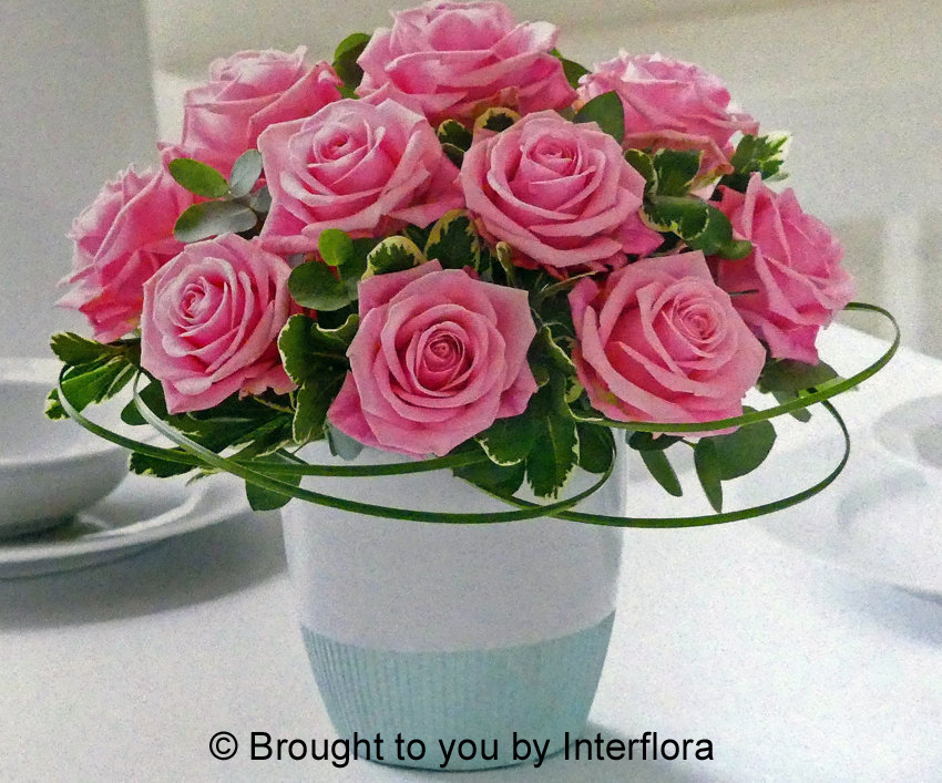 Classic Chic Pink Rose Arrangement: £54.00