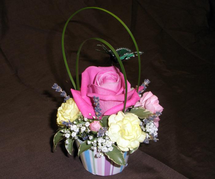 Cupcake: Pink Rose-Small