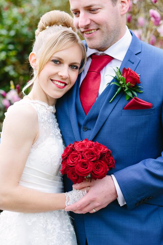 Red Rose Bride & Groom
