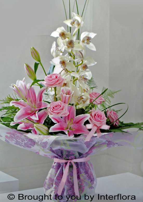 Exquisite Orchid & Rose Hand-Tied : £63.00