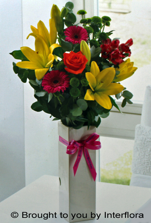 Happy Birthday Vase: £36.00