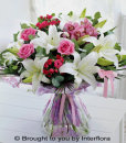 Lily, Rose & Cymbidium Orchid Hand-Tied: £65.00