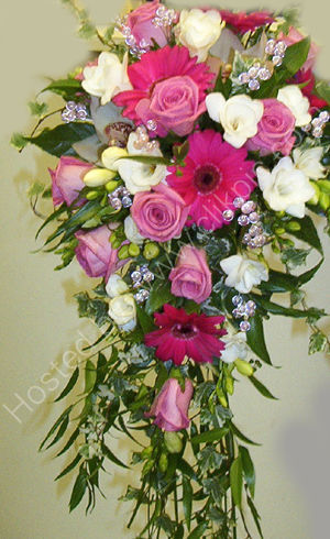 Germini, Rose & Freesia Shower Bouquet