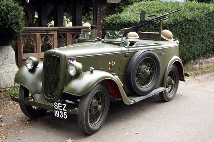 "WEDDING CAR HIRE - ""OLIVE"" VINTAGE ARMY AUSTIN 7 RUBY"