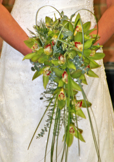 Green Orchid Shower Bouquet