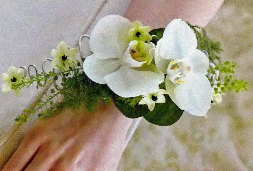 Orchid & Fern Wrist Corsage