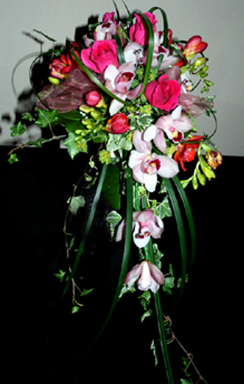 Orchid & Rose Shower Bouquet