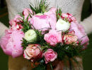 "Peony & ""Sweetness"" Rose Handtied"