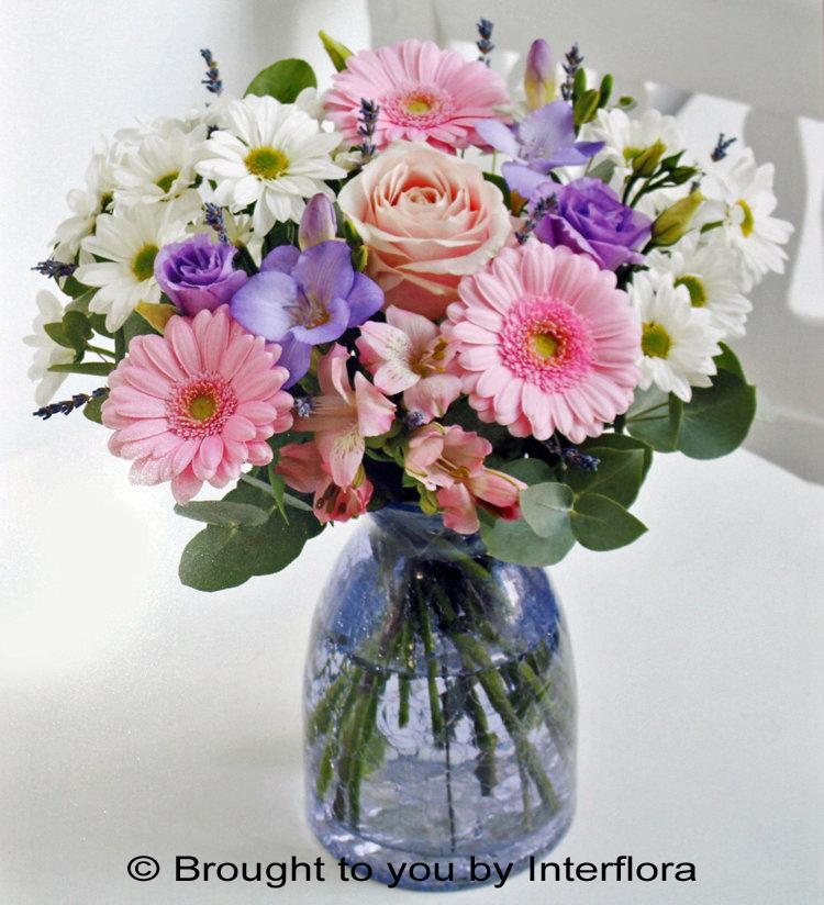 Pink & Lilac Vase Arrangement: £40.00