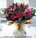Pink Rose & Lily Hand-Tied: £40.00