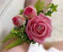 Pink Rose/Diamonte Wrist Corsage