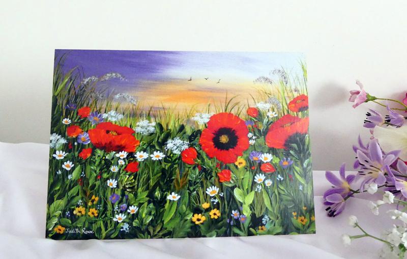 """Greetings Card: """"Poppy Field"""" £3.00"""