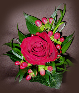 Red Rose Buttonhole for Groom