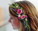 Rose & Lavender Hair Comb