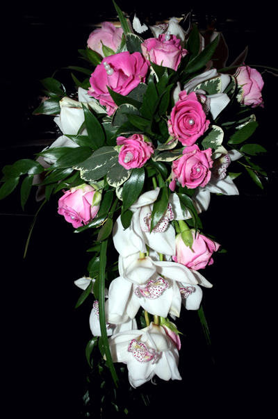 Rose & Orchid Shower Bouquet