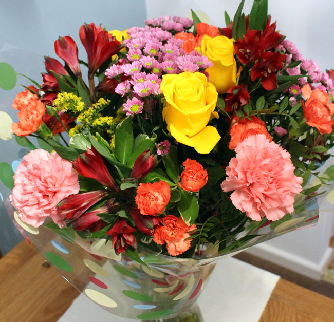 SPECIAL OFFER - Rose and Alstro tied Bunch £30